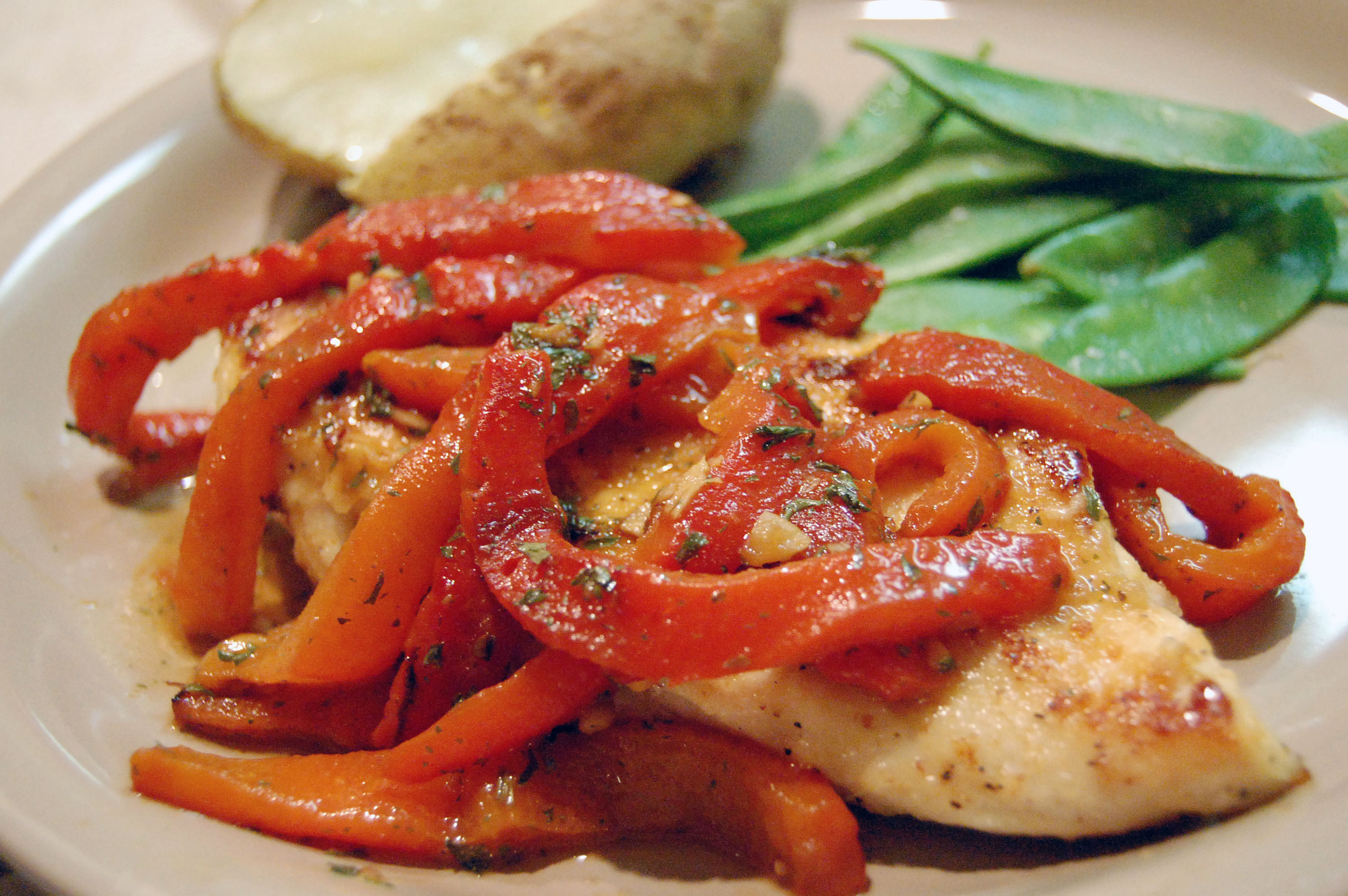 Chicken Breasts w/ Roasted Red Peppers