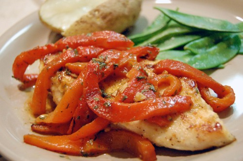 recipe: roasted red pepper chicken [24]