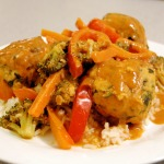 Indian Meatballs w/ Curried Vegetables