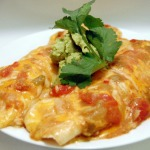 Chicken, White Bean, & Chorizo Enchiladas w/ Green Chile